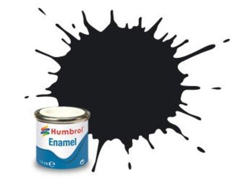 Humbrol - HMB AA0360 Black Enamel, 14ML, Matt, Shade 033