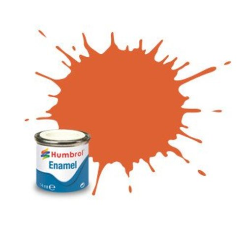 Humbrol - HMB AA0905 - Orange Lining - Enamel, 14ML, Matt, Shade 082