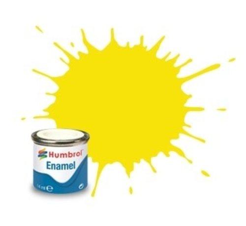 Humbrol - HMB AA1095 - Lemon - Enamel, 14ML, Matt, Shade 099