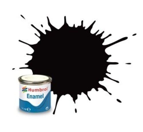 Humbrol - HMB AA0936 - Coal Black - Enamel, 14ML, Satin, Shade 085