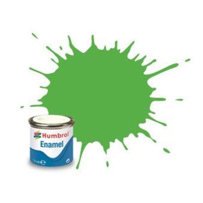 HMB - HUMBROL AA7081 - Fluorescent Signal Green - Enamel, 14ML, Gloss, Shade 208