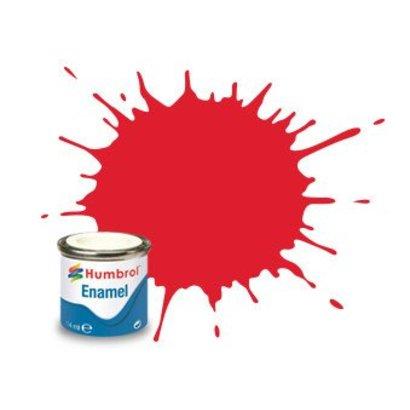 HMB - HUMBROL AA0206 Bright Red Enamel, 14ML, Gloss, Shade 019