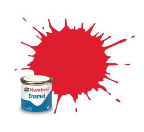 Humbrol - HMB AA0206 Bright Red Enamel, 14ML, Gloss, Shade 019