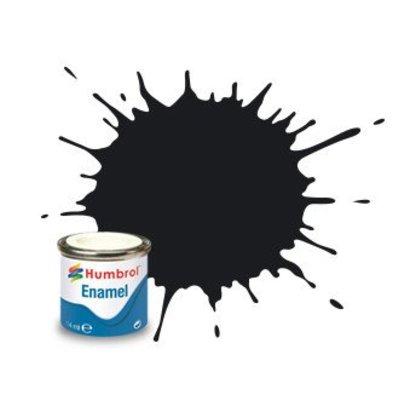 HMB - HUMBROL AA0237 Black Enamel, 14ML, Gloss, Shade 021