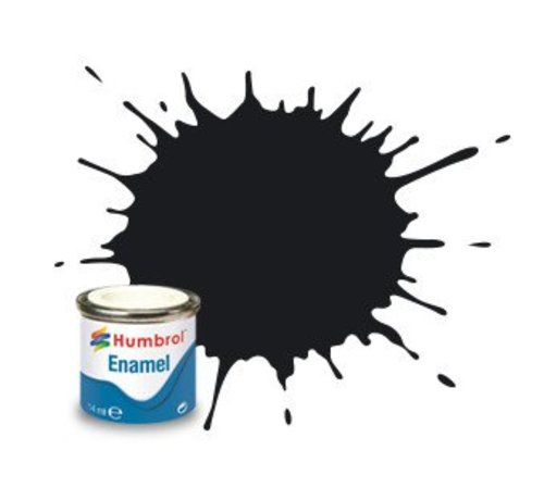 Humbrol - HMB AA0237 Black Enamel, 14ML, Gloss, Shade 021