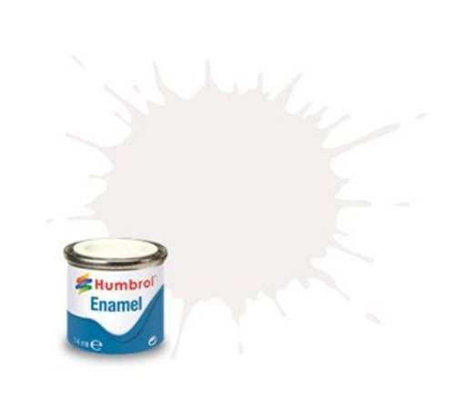 Humbrol - HMB AA0240 White Enamel, 14ML, Gloss, Shade 022