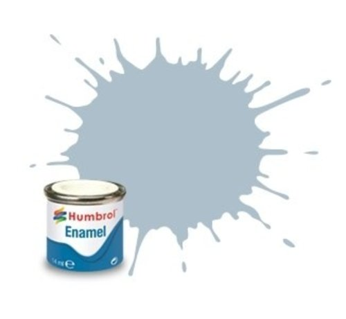 Humbrol - HMB AA1403 - US Ghost Grey  - 14ml Enamel Paint, Satin, Shade 127