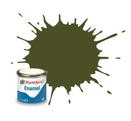 Humbrol - HMB AA1688 - Olive Drab - Enamel, 14ML, Matt, Shade 155