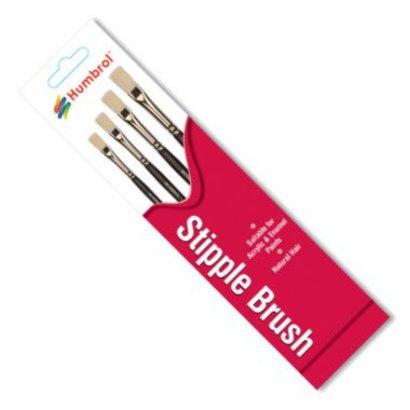 HMB - HUMBROL AG4303 - Set of 4 Acrylic & Enamel - Brush Pack, Stipple, Natural Hair