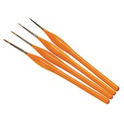 Humbrol - HMB AG4301 - Set of 4 Acrylic & Enamel - Brush Pack, Detail, Synthetic