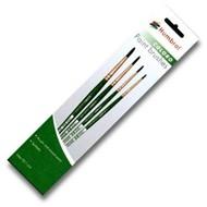 HMB - HUMBROL 00, 1, 4, 8 Synthetic - Coloro (Green) Brush Pack (4pk)