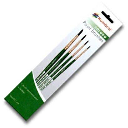 HMB - HUMBROL AG4050 - 00, 1, 4, 8 Synthetic - Coloro (Green) Brush Pack (4pk)
