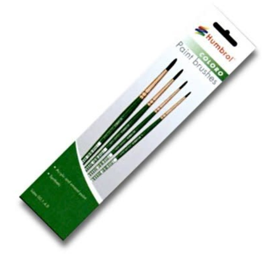 AG4050 - 00, 1, 4, 8 Synthetic - Coloro (Green) Brush Pack (4pk)