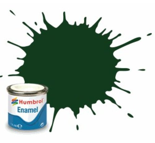 Humbrol - HMB AQ0040 - Brunswick Green - Enamel, 50mL, Gloss, Shade 3