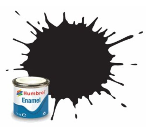 Humbrol - HMB AQ0366 - Black - Enamel, 50mL, Matt Shade 33