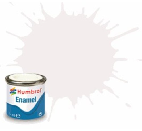 Humbrol - HMB AQ0246 - White - Enamel, 50mL, Gloss Shade 22