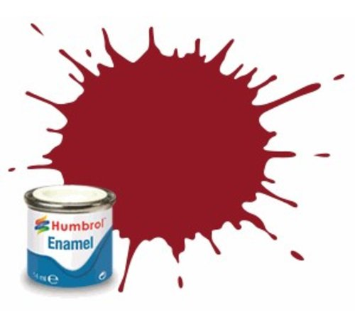 Humbrol - HMB AQ0229 - Crimson - Enamel, 50mL, Gloss, Shade 20