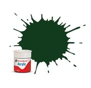 Humbrol - HMB AB0003 - Gloss, Brunswick Green - Acrylic, 14mL, Gloss, Shade 003