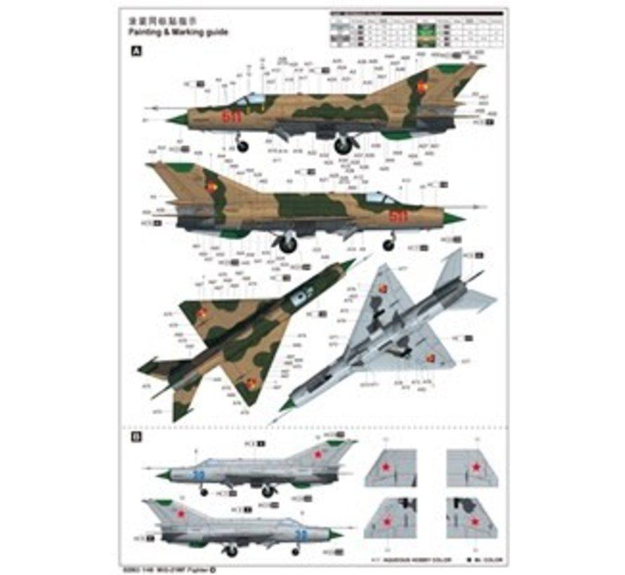 2863 1/48 MiG-21MF Russian Fighter