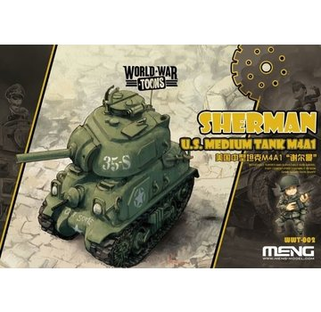 MENG MODEL (MGK) Sherman U.S. Medium Tank M4A1 Toons