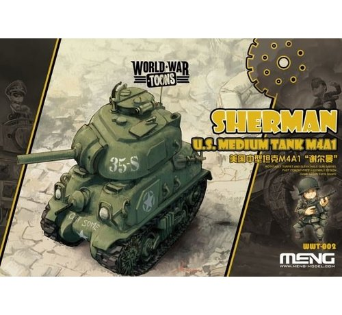 MGK-MENG MODEL KITS WWT002 Meng Misc Sherman U.S. Medium Tank M4A1 'World War Toons