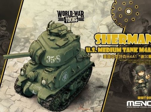 MENG MODEL (MGK) Sherman U.S. Medium Tank M4A1 Toons