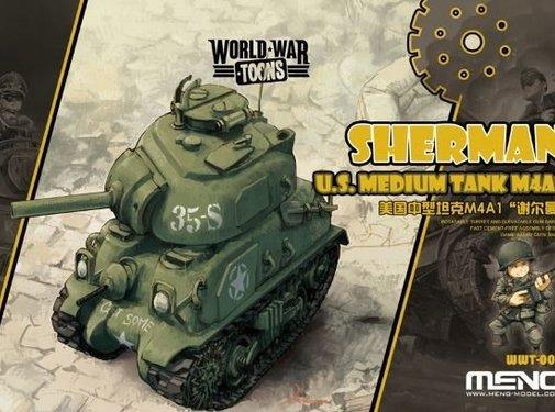 MGK-MENG MODEL KITS Sherman U.S. Medium Tank M4A1 Toons