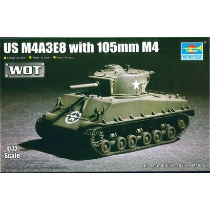 TSM - Trumpeter Models 07168 US M4A3E8 with 105mm M4  1/72 - Trumpeter
