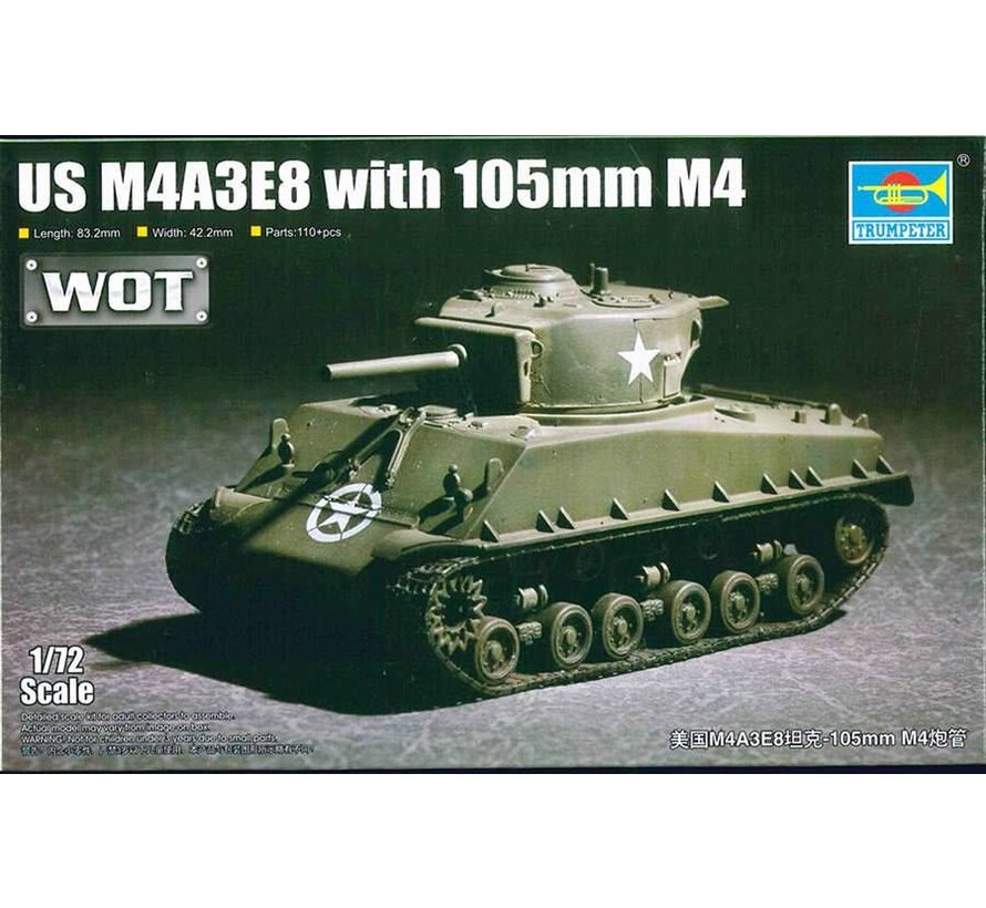 07168 US M4A3E8 with 105mm M4  1/72 - Trumpeter