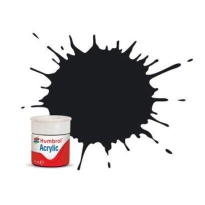 HMB - HUMBROL AB0021 - Black - Acrylic, 14mL, Gloss, Shade 021