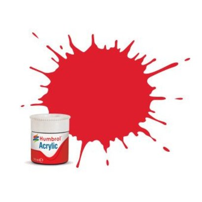 HMB - HUMBROL AB0019 - Red - Acrylic, 14mL, Gloss, Shade 019