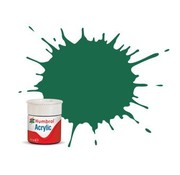 Humbrol - HMB AB0030 - Dark Green - Acrylic, 14mL, Matt, Shade 030
