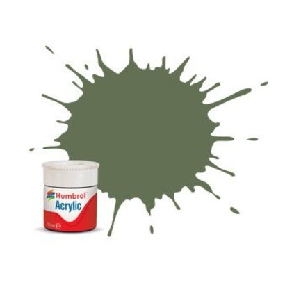 HMB - HUMBROL AB0102 - Army Green - Acrylic, 14mL, Matt, Shade 102
