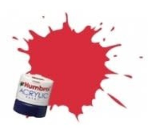 Humbrol - HMB AB2423 - Carmine - Acrylic, 14mL, Rail Colors, RC423