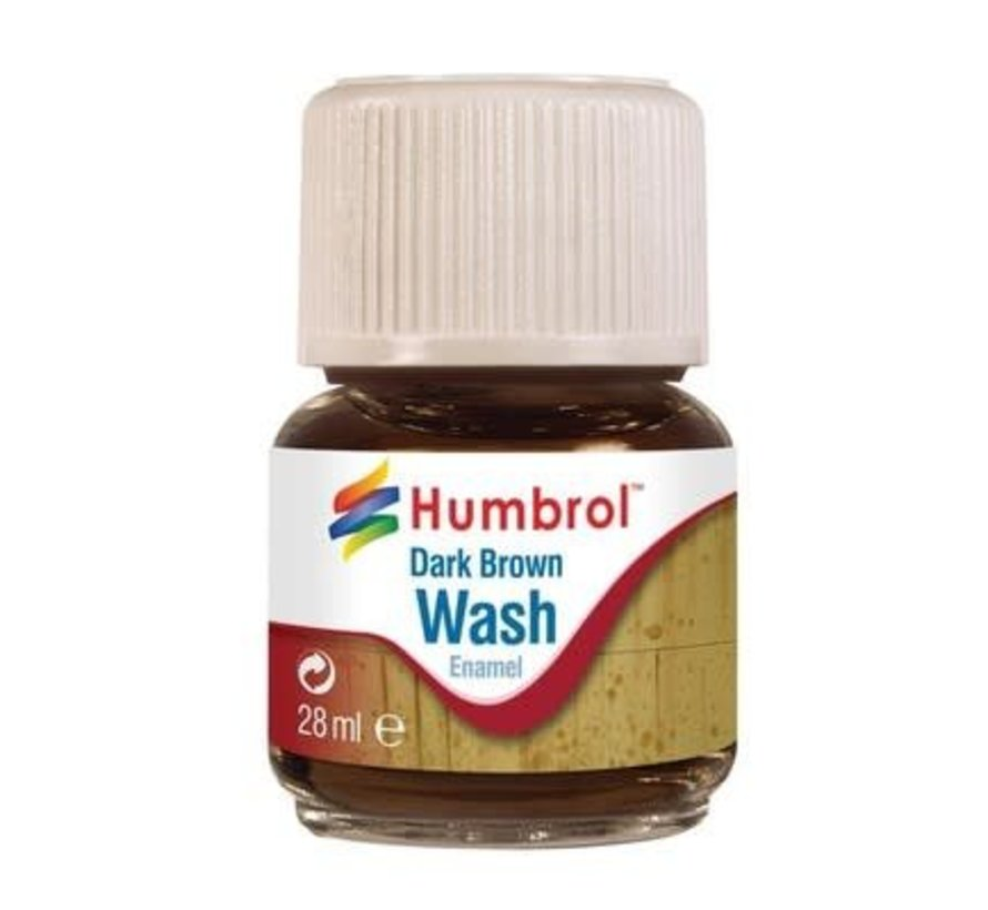AV0205 - Enamel Wash Dark Brown, 28 ml