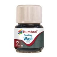 HMB - HUMBROL AV0204 - Enamel Wash Dark Grey, 28 ml