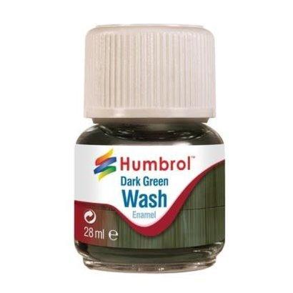 HMB - HUMBROL AV0203 - Enamel Wash Dark Green, 28 ml