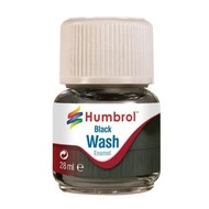 HMB - HUMBROL AV0201 - Enamel Wash Black, 28 ml