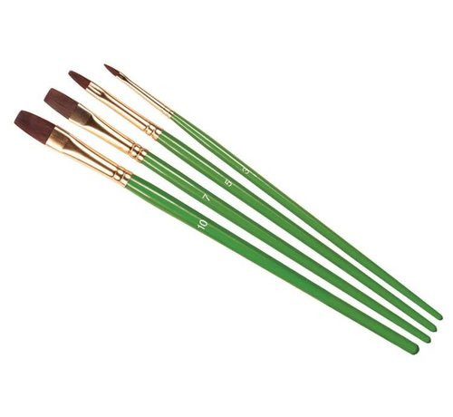 Humbrol - HMB AG4302 - Set of 4 Acrylic & Enamel - Brush Pack, Flats, Synthetic Hair