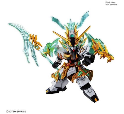 "BANDAI MODEL KITS 5056755 Guan Yu Yun Change Nu Gundam  ""SD Sangoku Soketsuden"", Bandai SD"