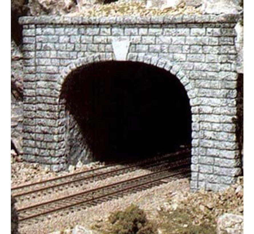 C1257 HO Dbl Tunnel Portal  Cut Stone