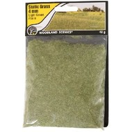WOO - Woodland Scenics 785- FS619 Static Grass, Light Green 4mm