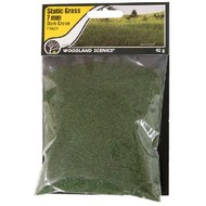 WOO - Woodland Scenics 785- FS621 Static Grass, Dark Green 7mm