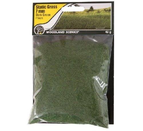 WOO - Woodland Scenics 785- FS621 Static Grass, Dark Green 7mm