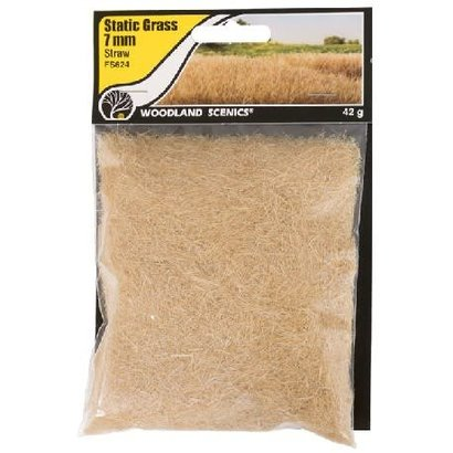 WOO - Woodland Scenics 785- FS624 Static Grass, Straw Green 7mm