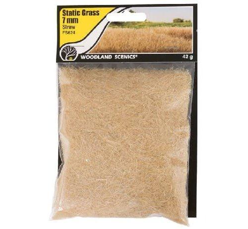 WOO - Woodland Scenics 785- FS624 Static Grass, Straw Green 7mm