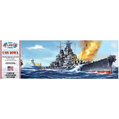 AMC - ATLANTIS MODEL 369 1:535 USS IOWA BATTLESHIP (FORMERLY REVELL)