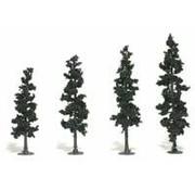 "Woodland Scenics (WOO) 785- Realistic Tree Kit Pines Conifer Green 4"" - 6"" (24)"