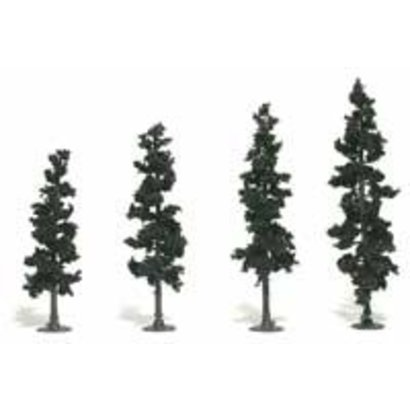 "WOO - Woodland Scenics 785- Realistic Tree Kit Pines Conifer Green 4"" - 6"" (24)"