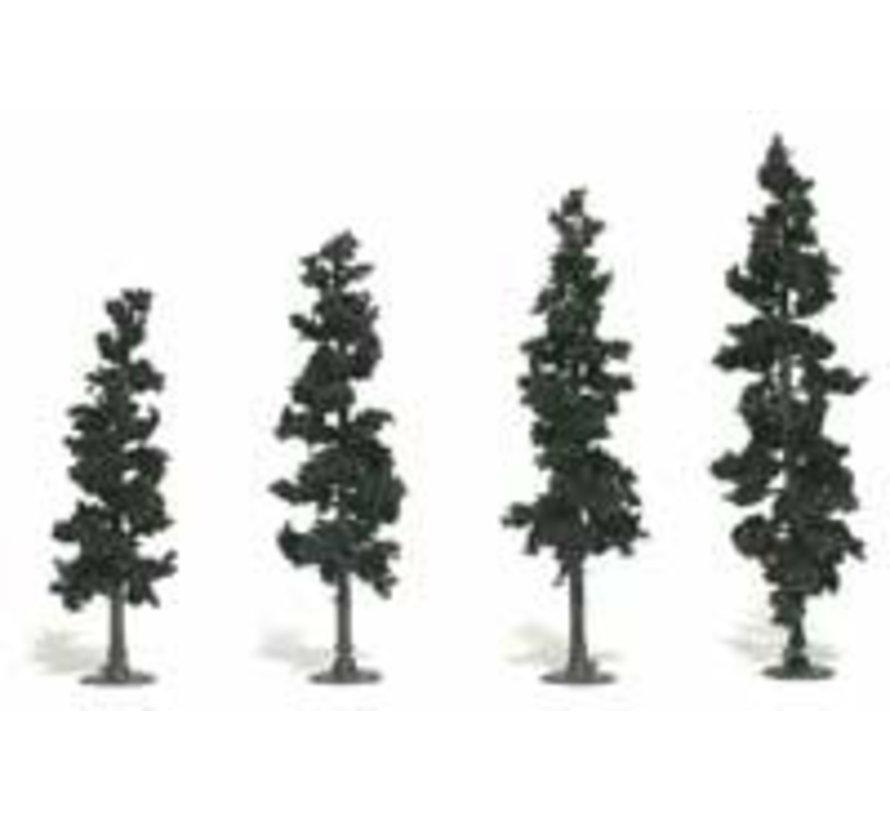 "Realistic Tree Kit Pines Conifer Green 4"" - 6"" (24)"